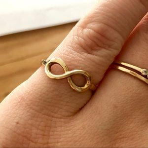 Engraved Infinity Gold Ring